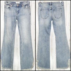 Free People | Vintage Flare Raw Hem Jeans